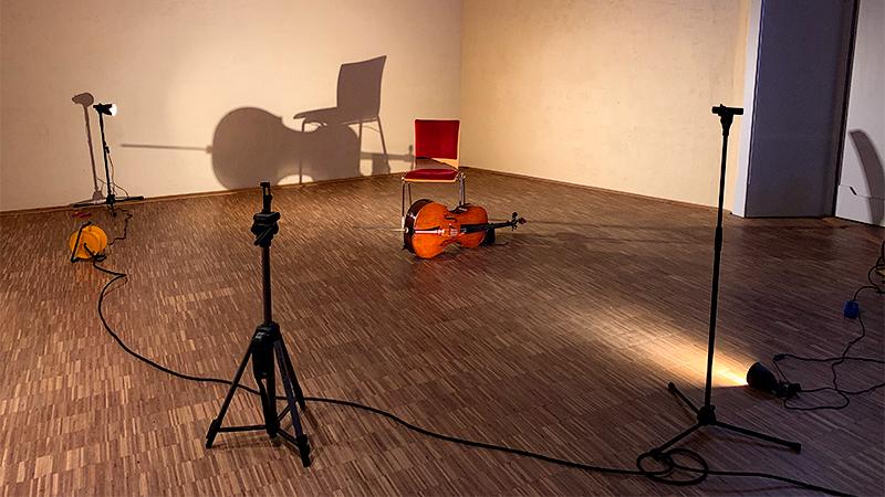 behind the scenes cello recording